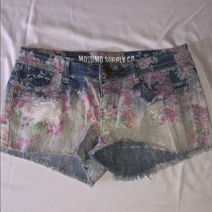Mossimo Brand Floral Denim Shorts